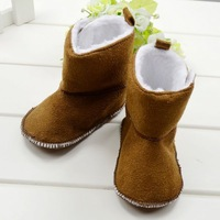 CL0024 Classic Style Baby Warm Cotton Winter Snow Boots, 11cm,12cm,13cm Top Quality Soft Sole Unisex Baby Boots, Free Shipping