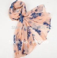 free shipping + fashion cotton voile bohemian Snowflakes printing Christmas scarf/head wraps