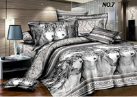 Discount Cheap 3D Oil Painting Comforter Sets/Bedding Set,Queen 4PC