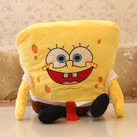 Hot sale stuffed plush toy! 40 cm cute cartoon Spongebob doll for present, new arrival 15 inch soft baby boy's toy for gift
