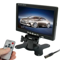 7.0 inch Car Monitor/Surveillance Cameras Monitor with Adjustable Angle Holder Remote Controller, Dual Video Input