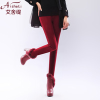 Winter women's plus velvet thickening legging trousers female autumn and winter pencil pants