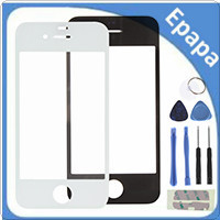 Outer Front Cover Replacement Touch Screen Digitizer Glass Lens For iPhone 4 / IV With Repair Tools - Black / White