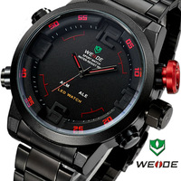 2014 Men's watch military watch Men Quartz Black Dail Sport Wrist Watch 6 color watch 3ATM, WH2309