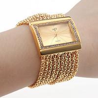 Luxury NEW Chain Bracelet Watch Ladies Women Quartz Wristwatch Fashion Gift