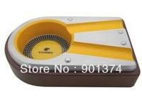 portable Cohiba Metal cedar Cigar Ashtray  for 2  finger -FREE SHIPPING