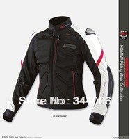 2013 The New Cool New KOMINE JK-036 the titanium leather with mesh racing suits motorcycle jacket