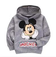 Children's clothing 100% cotton loop pile MINNIE grey with a hood sweatshirt t-shirt