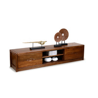 Pure solid wood Walnut tv cabinet log chinese style furniture brief