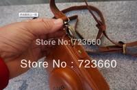 Brown Leather Camera Case Bag Shoulder Strap For Leica D-LUX4 D-LUX5 DLUX4 DLUX5