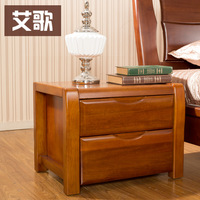 Furniture walnut all solid wood bedside cabinet chinese style rustic solid wood cabinet storage cabinet yb24