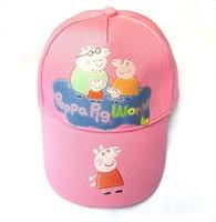 Hot hat 5 pcs/lot  Cartoon designs Pink Pig Hat Kids Baseball Hat Children's Hat Baseball Cap Free shipping 2013