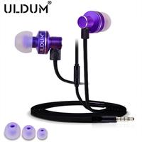 ULDUM bass in-ear earphone with mic headset mp3 mp4 headphones for phone