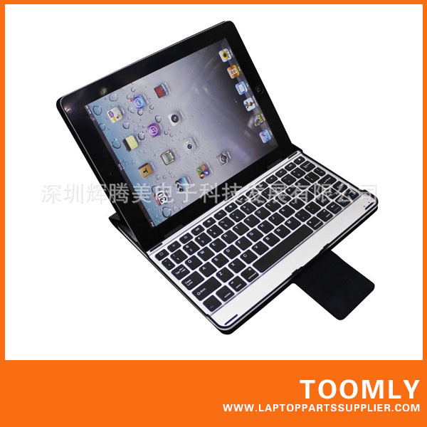 Hot Sell Aluminum bluetooth 3.0 keyboard for ipad 2 3 silver pink green blue can be used as stand(China (Mainland))