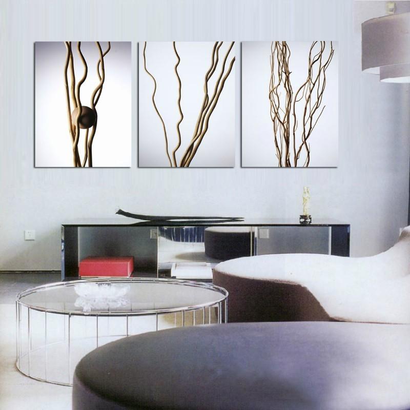 3 painel de pintura moderna doméstica arte decorativa imagem pintura em tela impressões árvores para o ramo de arte(China (Mainland))