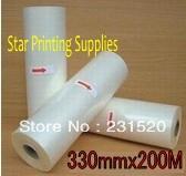 Glossy Hot roll laminating film 3 rolls 330mmx200M/roll(China (Mainland))