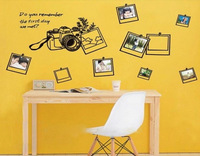 45*60CM diy home decor photo wallpaper  photo frame kid's room sticker, the 3rd generation wall sticker with English words