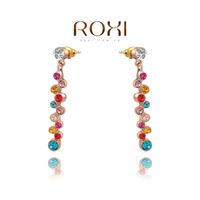 11.11 wholesale rose gold earrings women Crystal Earrings, Micro-Inserted with AAA zircon crystal,fashion bijouterie,202017504