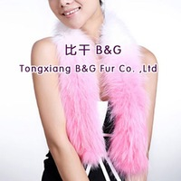 BG29555 Genuine Fox Fur Scarf  Women  Wholesale Retail  Tidal Gradient Warm Fur Scarf