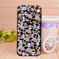 New fashion Iron Skull Rhinestone phone bag case for iphone 5 case for iphone 5s  Free Shipping