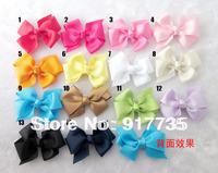 Free shipping! 8cm Satin Bow Flower Headbands Baby Hair Bow Headbands Infant/Toddler Girls Flower Hairbands 40pcs/lot
