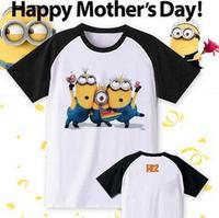 Free Shipping Size S/M/L/XL/2XL summer kids tshirt Despicable me minion cartoon printed t shirt 100% cotton