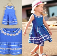 100% Cotton 204 summer girls dress flowers designs dresses for 2-7 years girl dress children clothing kids clothes