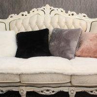 Luxury rabbit fur velvet sofa car cushion cover office cushion pillow case ofhead back cushion
