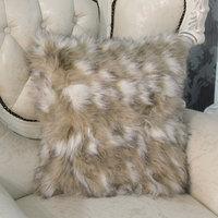 Pillow cover cushion set luxury pillow case luxurious faux rabbit fur