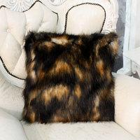 Pillow cover cushion set luxury pillow case luxurious faux fox fur
