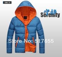 2014 new man cotton-padded jacket, winter coat, men winter clothes, hooded jacket, coat man