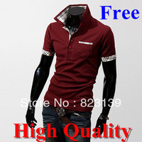 Freeshipping,2014 Polo Shirt Men Brand Famous Cotton Tee Top Design Men's Short Sleeve Tee,High Quality,Wholesale&Retail#0029
