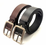 Free Shipping 2014 Fashion Cowskin Leather Men Brief Cowhide Genuine Strap Buckle Casual High quality Belt B14