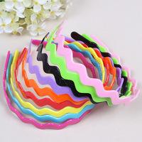 children's plastic headband color wavy hair bands hair ornaments wholesale free shipping 1lot=50pcs