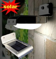 6pcs/lot Waterproof Solar Powered Outdoor Lamp 16 LED Wall Light sound controlGarden Yard Street Lighting