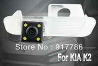 Car Rear View Camera With 4 LED HD CCD Camera for KIA K2 Reverse backup Camera free shipping