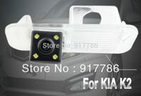 Car Rear View Camera With 4 LED HD CCD Camera for KIA K2 Reverse backup Camera free shipping