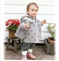 Autumn&Winter New Baby Cloak Two-sided wear Reversible baby's cape outerwear clothing coat printed thicken cloak