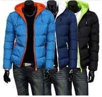 2013 autumn winter fashion keep warm leisure  men cotton jackets down parkas coats Size M-XXL