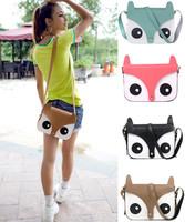 2014 Naughty Little Cute Cartoon Fox Bag Retro Bags Handbags Messenger Bags Girl And Women Mini Messenger Packages