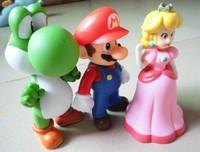"3pcs Nintendo Super Mario bros mario Princess Yoshi Figure Toy 5"""