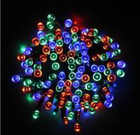 120cm 100 led solar powered panel led string light Christmas holiday lights outdoor lighting for garden decoration