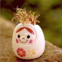 2pc/lot Creative Gift Pant Hair Man Red lilliputian Bonsai grass doll baby office mini bonsai plant