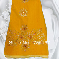 orange!Super Korean Velvet  Lace.High Quality African Velvet  Fabric with diamond!  Free Shipping by DHL!     RB122104