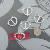 Free Shipping 100 Heart Love Buckle Ribbon Slider Craft Scrapbooking Wedding Invitation Card Favor  25mm