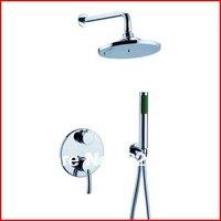 Copper Chrome Bathroom Shower Faucet Handles Mixer Wall WaterTap Bath Shower Set  Shower Hotels Torneira Chuveiro Banheiro Ducha