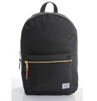 Herschel settlement gold zipper double-shoulder backpack black Color Herschel Bag Free Shipping