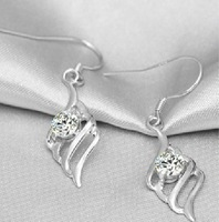 925 pure silver 18k platinum earrings women's earrings silver jewelry earring