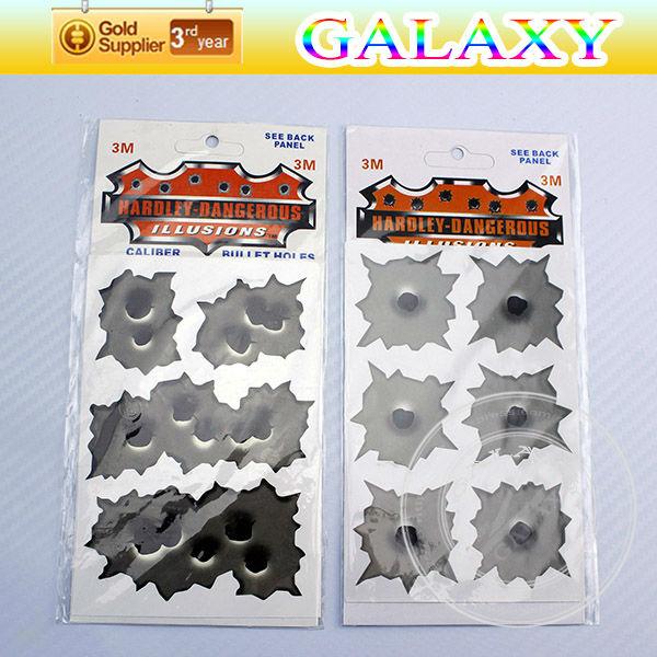 free shipping by china post PVC vinyl bullet holes inordinance car sticker mini irregular shotholes auto design(China (Mainland))