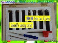 Free shipping  indexable turning Lathe tool Plating titanium carbide Turning tool blade 10mm/*10mm/7pc kit cutter